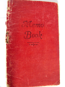Front cover of memo book